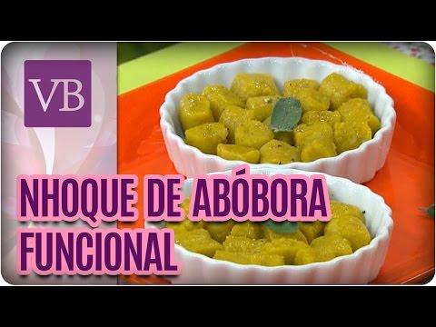 Nhoque de abóbora funcional - Você Bonita (26/08/16)
