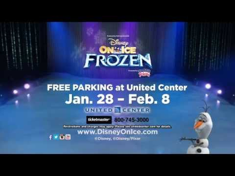 Frozen on ice chicago united center