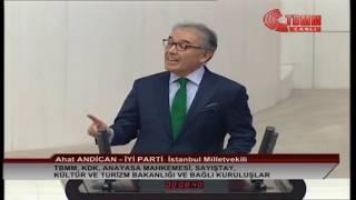 İYİ PARTİ İSTANBUL MİLLETVEKİLİ AHAT ANDİCAN MECLİS KONUŞMASI-10 ARALIK 2019
