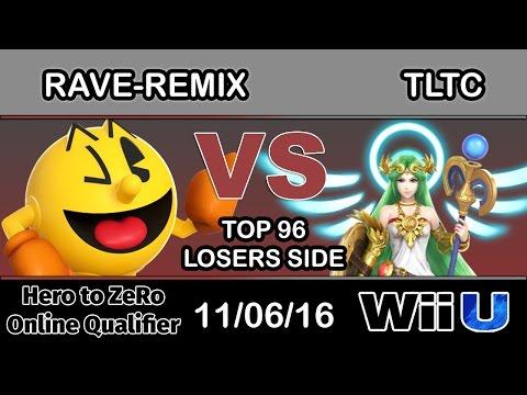 Hero to ZeRo - RaveRemix (Pac-Man) Vs. SCB   TLTC (Palutena) Top 96 Losers Side - Smash Wii U