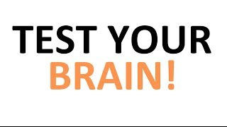 Brain Test: 90% of people fail this!! (test your brain quiz with answers)