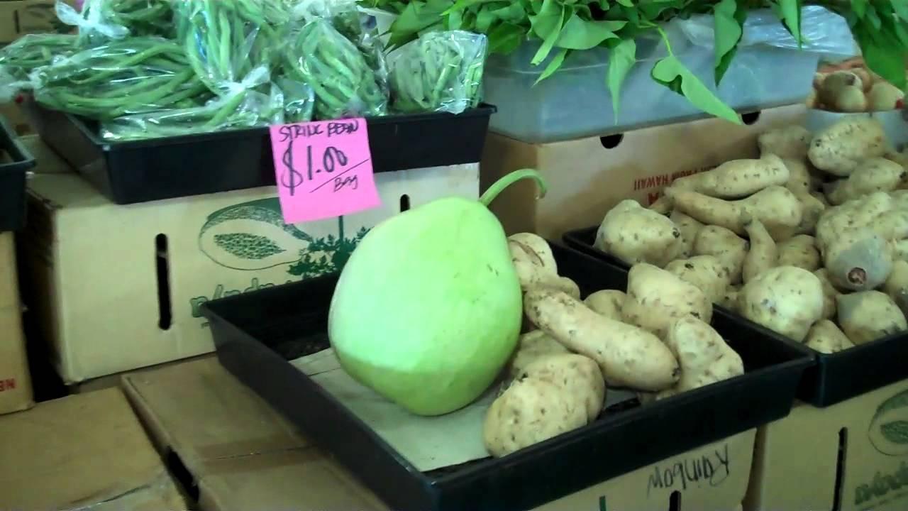 Green Dragon Farmer's Market, Kahului, Maui  Youtube