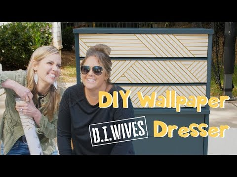 DIY Wallpaper Dresser with Monica Mangin