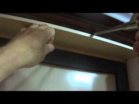 2. Установка доборов у входной двери