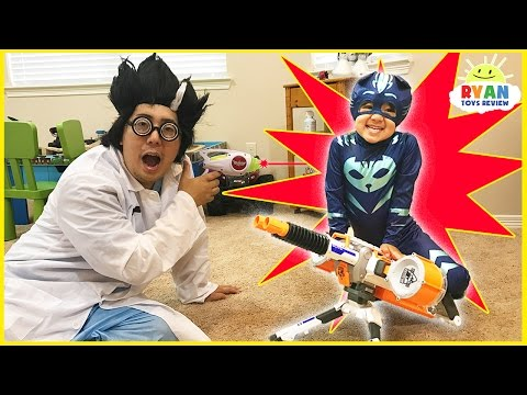 Thumbnail: PJ MASKS IRL SUPERHEROES Catboy and Spiderman Surprise Eggs stolen by Romeo and Night Ninja