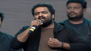 Singer Kala Bhairava Terrific Live Performance @ Aravindha Sametha Pre Release Event