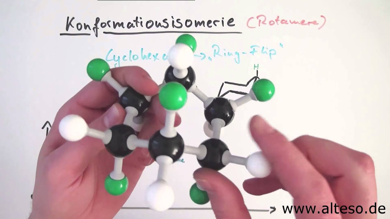 Cyclohexan Sessel Und Wannenform Konformationsisomerie Teil 3 Inversion Der Sesselkonformation