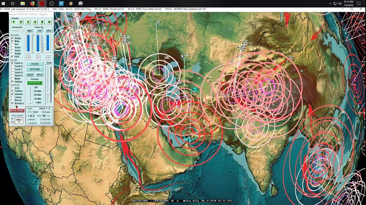7 08 2018 Global Earthquake Forecast Expect Large Activity
