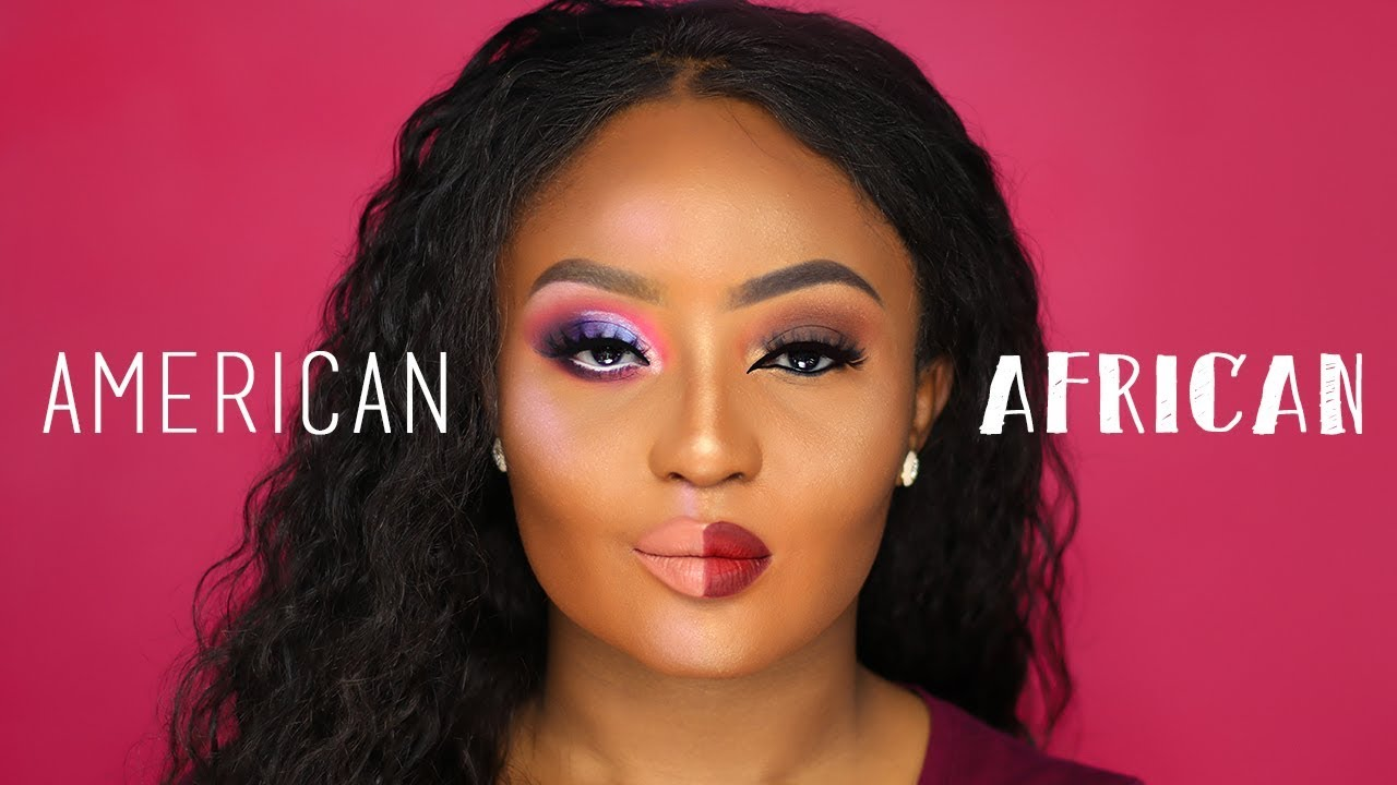 American VS African Makeup - YouTube