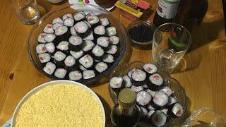 Суши/ Роллы/ С крабовым мясом и рыбой/ Суши без риса типа ПП/ очень вкусные суши и роллы/