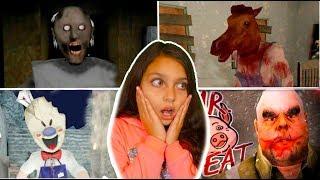 ПОЙМАЛИ ВСЕХ БОССОВ МОРОЖЕНЩИК vs ГРЕННИ vs Head Horse vs МИСТЕР МИТ Granny 2 Ice Scream 2 Валеришка