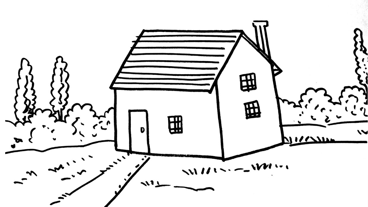 How to draw a house for kids step by step youtube Draw your house