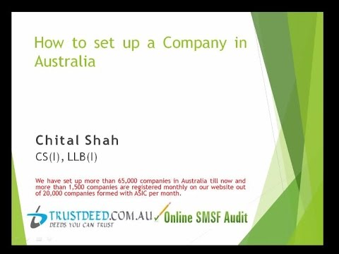 How to set up a Company in Australia