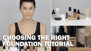 Choosing the right foundation tutorial (with subs) - Linda Hallberg Makeup Tutorials