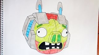 How to draw Angry Birds Transformers Energon Starscream