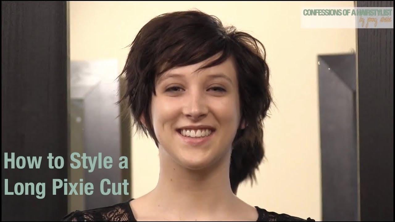 3 ways style long pixie haircut