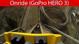 Heide Park - Colossos (Holzachterbahn / Wooden Coaster) - Onride [Erste Reihe / POV]