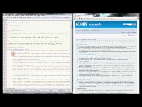 phpBB-Tutorial: den Registrierungstext ändern