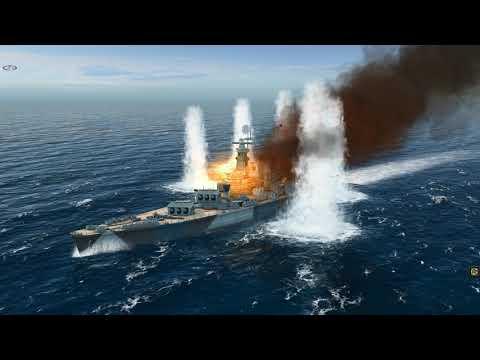 USS North Carolina Vs DKM Hutten (Atlantic Fleet)