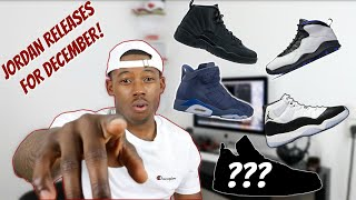 These are the Jordans that are set to release for the month of Dece...