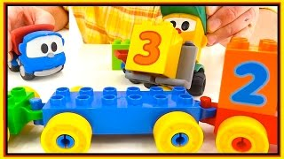 GUESS  NUMBERS! - Toy Trucks for Children - Leo the Truck and Toy Trains. Videos for Kids