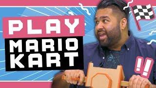 Playing Mario Kart 8 Deluxe with Nintendo Labo