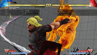 【SF5/スト5】Zeku st,Mk counter hit Confirm 中Kカウンター確認
