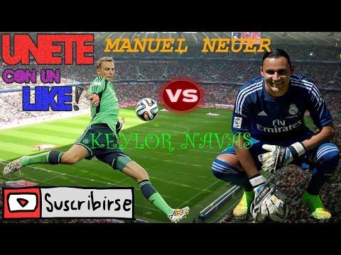 REAL MADRID VS FC BAYERN MUNICH ( KEYLOR NAVAS / MANUEL NEUER ) MEJORES ATAJAS 2016 - 2017