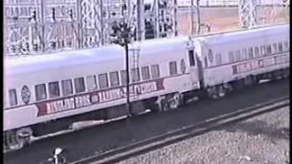 Amtrak Ringling Brothers&Barnum Bailey Circus train  Secaucus,NJ April 13 1989