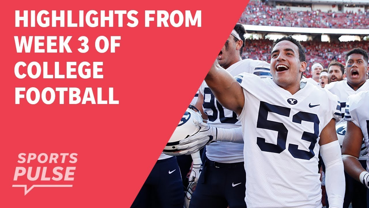 da234232ec Top highlights from Week 3 of college football - YouTube