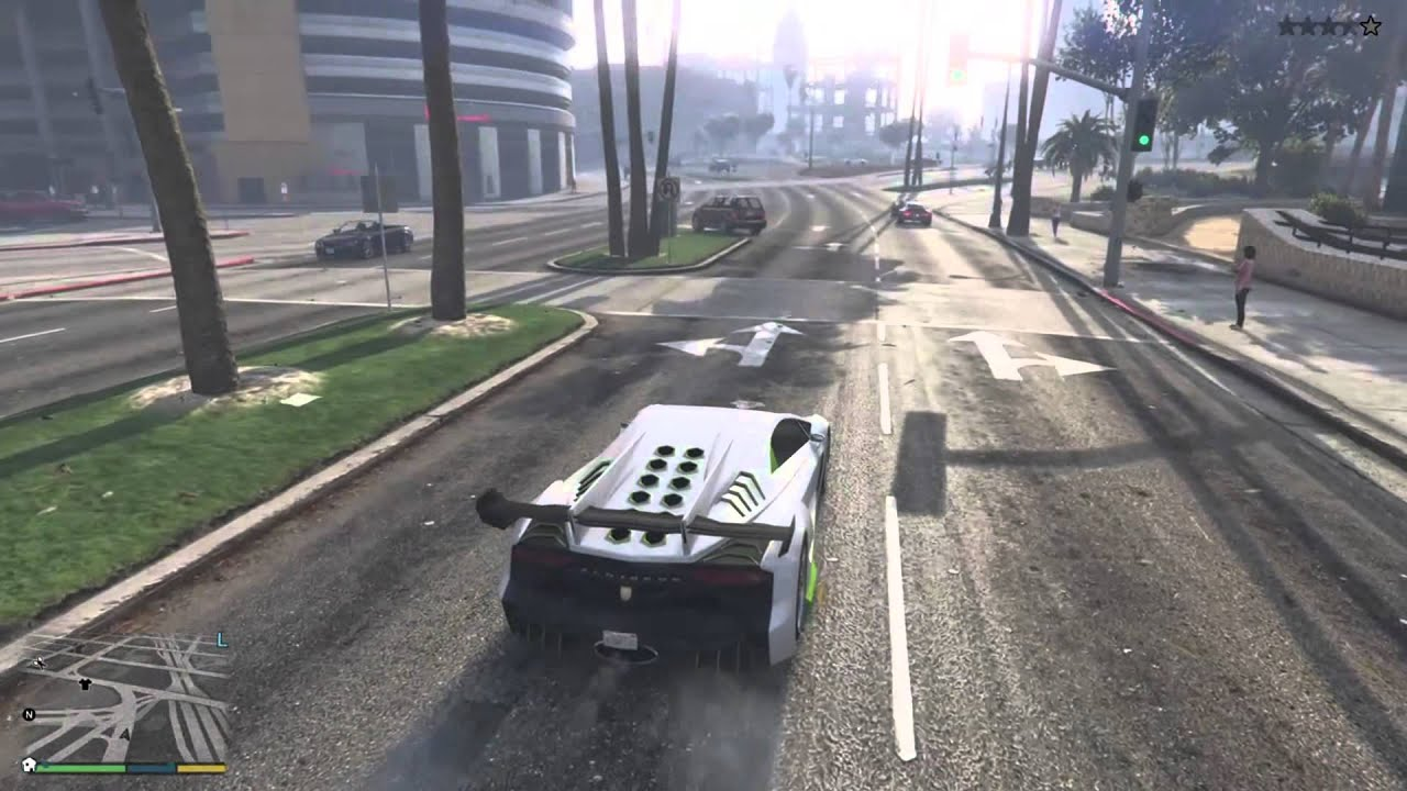 Gta 5 Story Mode A Civillian Driving A Zentorno!!!