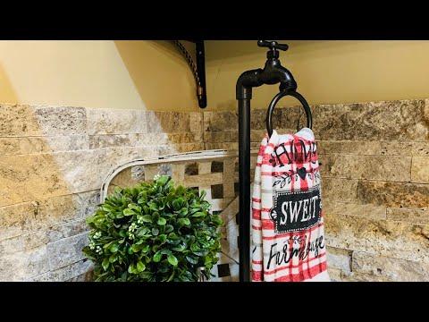 Dollar Tree DIY PLUNGER Faucet Towel Ring Holder - Wayfair Inspired DUPE $85 Vs $15 (54)