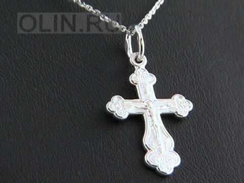 Нательный крест из серебра 925 пробы
