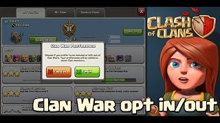 "Clash of Clans ""WAR OPT OUT!"" Clash of Clans New Update Info!"