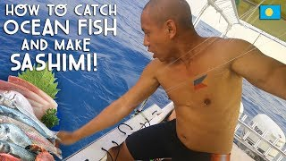 HOW TO CATCH OCEAN FISH and MAKE YOUR OWN SASHIMI! | Vlog #237