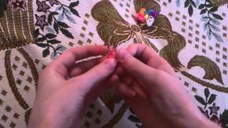 Урок плетения из резинок #1 цветочек