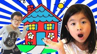 あたらしいおうち(家)へようこそ💛 ハウスツアー 新居ツアー かくれんぼ New House Tour!!! Hide and Seek