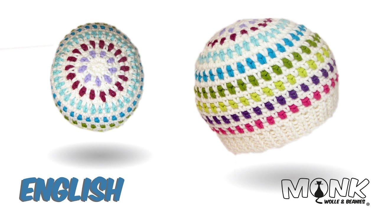 Crochet hat - Moss stitch beanie no. 1 - YouTube 272b7bce613