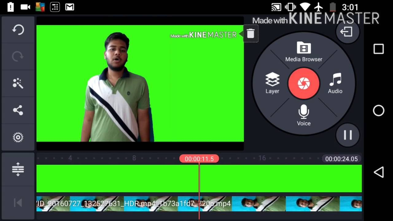 How to use green screen effect/chroma key on Android devices