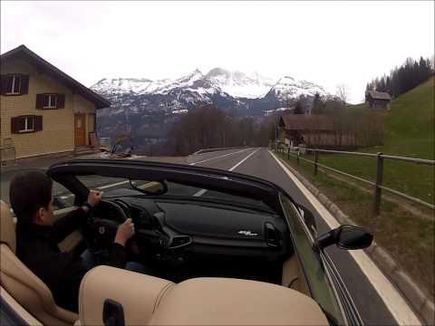 Luxury Car Hire Switzerland - Brünig Mountain Pass with Ferrari 458 Italia Spider