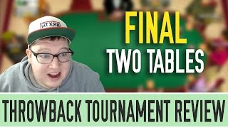 [Part 5] Throwback Tournament Review: $215 Sunday Warm-up with $118,000 to 1st