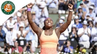 Serena Williams 2015 French Open championship point