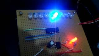 Pisca pisca sequencial com 10 leds e CI 555