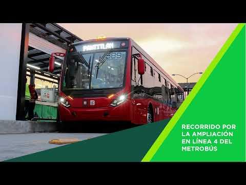 Recorrido de supervisión por ampliación de la Línea 4 del Metrobús