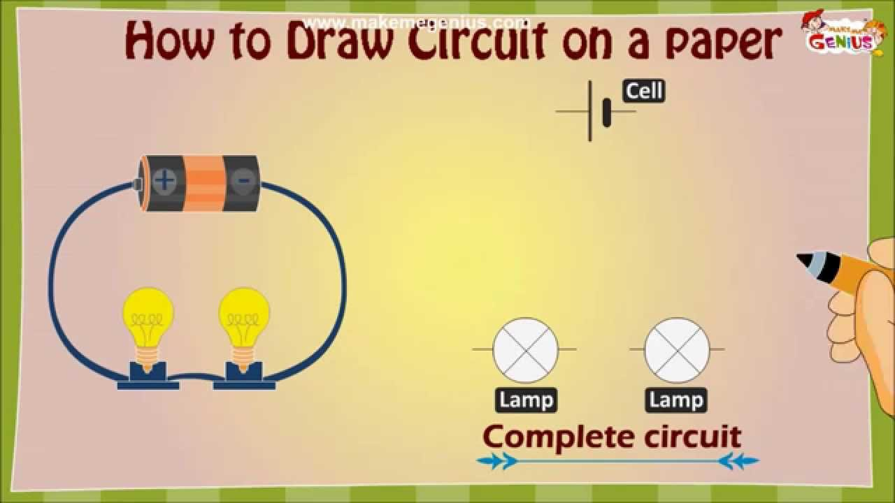 How to draw an Electric Circuit diagram for Kids  YouTube