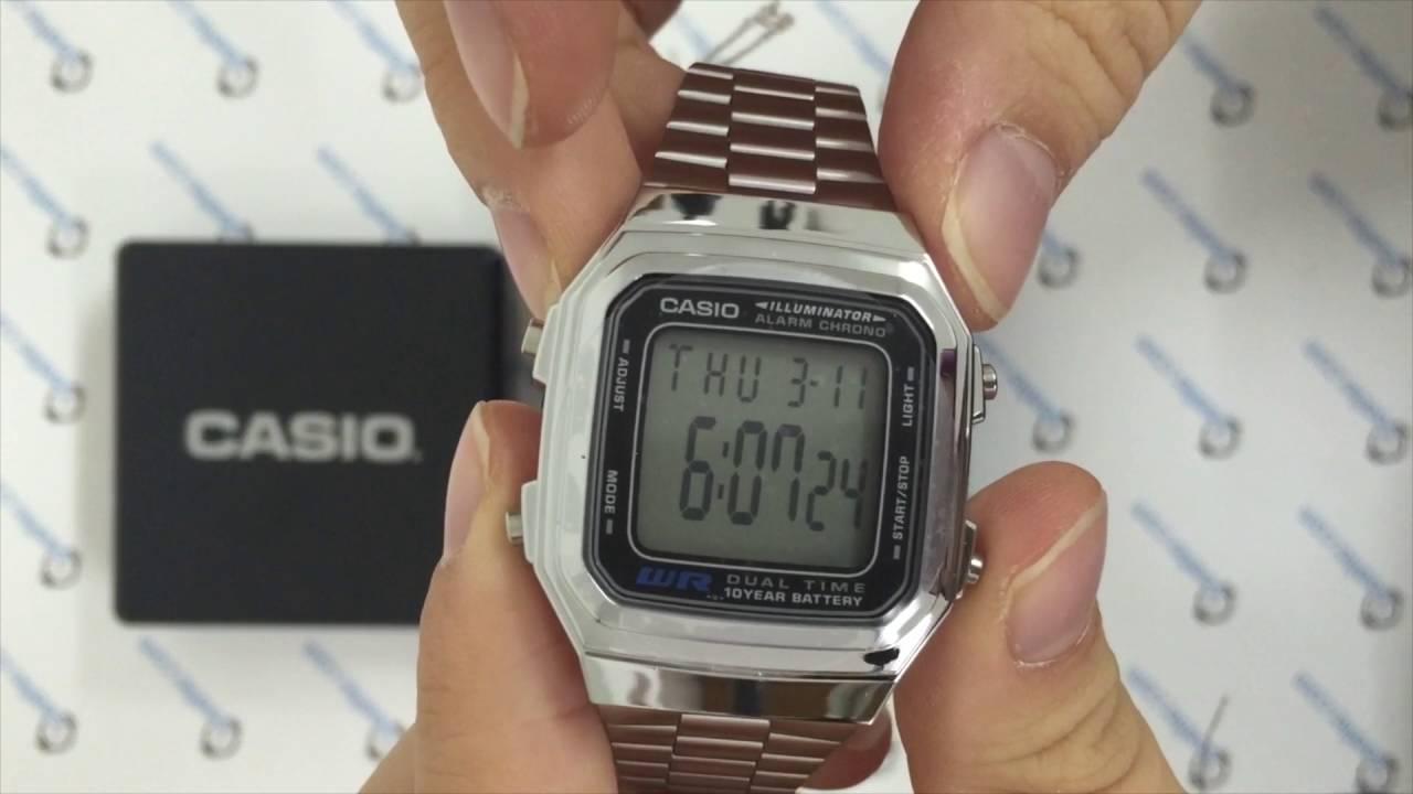 9613ab93b61 Casio Retro A178wa-1adf Kol Saati - YouTube