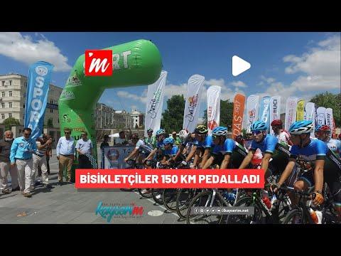 Bisikletçiler 150 km Pedalladı