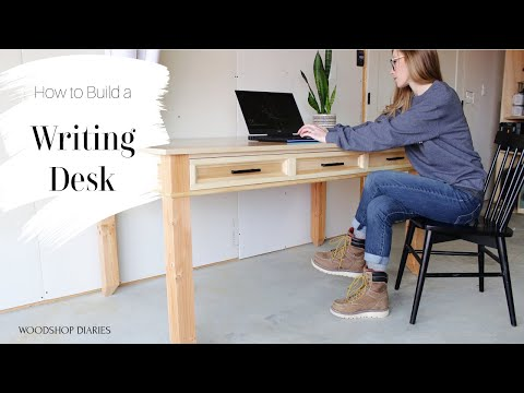 How to Build a Writing Desk {Using 2x4s and Plywood!}