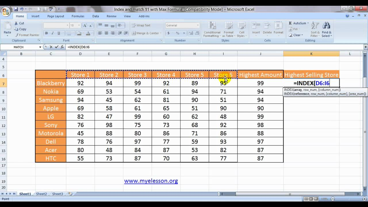 Index And Match  20   With Max Formula Lookup The Highest Value English