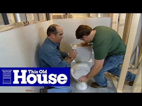 How to Install a Toilet Below Grade - This Old House
